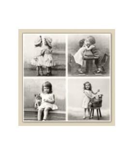 Servilleta vintage happy children 33 x 33cm