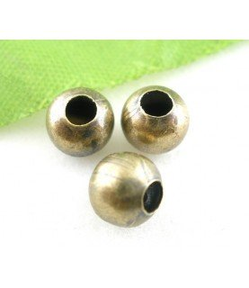 Pack 10 cuentas entrepieza bronce 6 mm