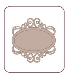 Silueta de cartón marco ovalado