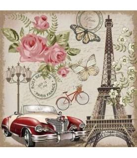 """Imagén: Papel sublimación 30x30cm """"Romantic France"""""""