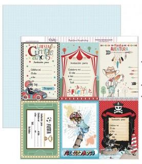 Comprar Papel scrap tarjetas cumpleaños 30,5 x 30,5 cm de Conideade