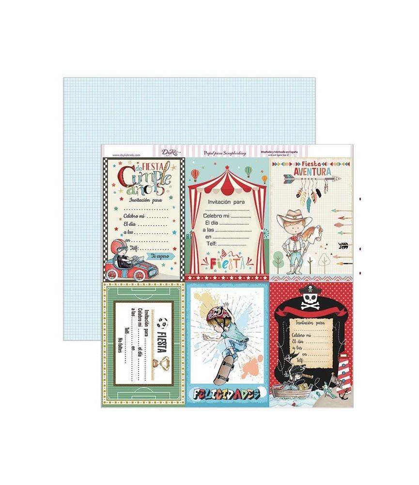 Papel scrap tarjetas cumpleaños 30,5 x 30,5 cm