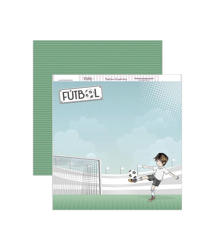 Papel scrap futbol 30,5 x 30,5 cm