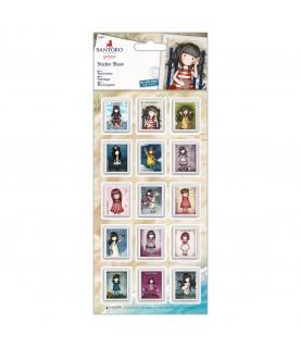 30 pegatinas sellos de Gorjuss