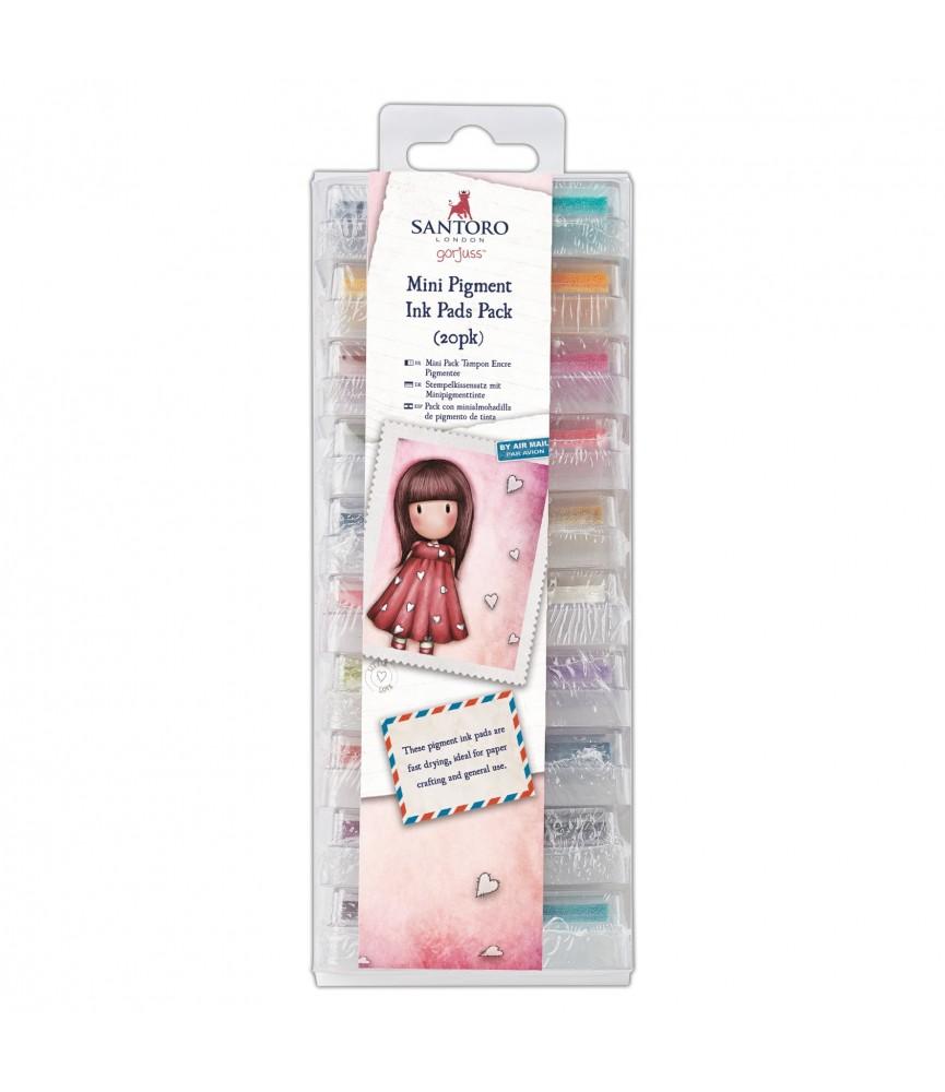 Pack 20 mini tampones de tinta gorjuss
