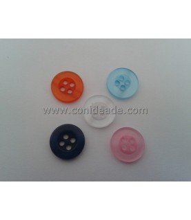 Pack 5 botones redondos de 11 mm