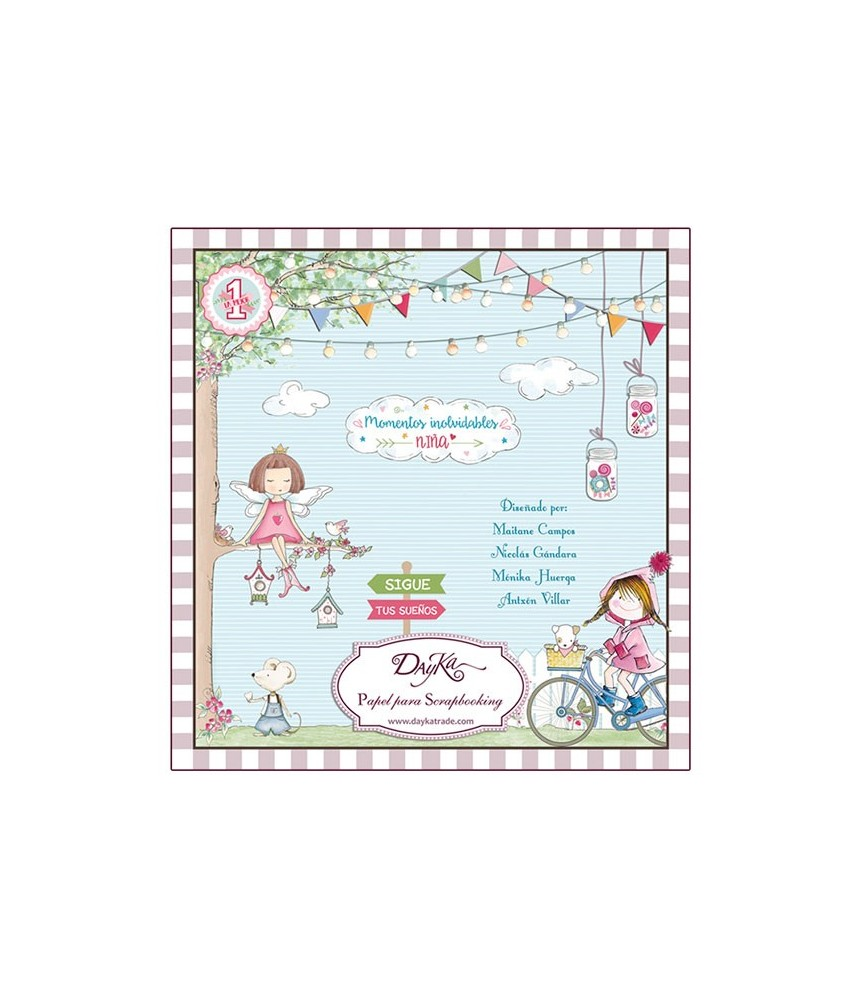 Libro scrap infantil niña 24 hojas 20x20 cm