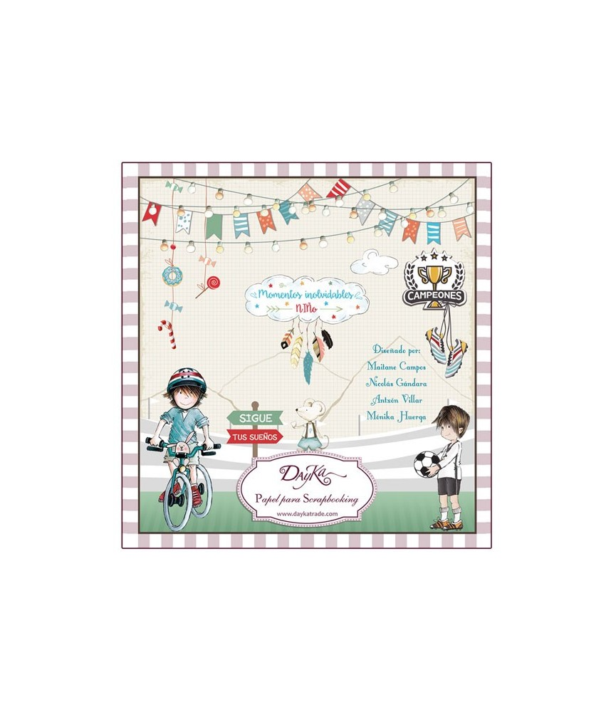 Libro scrap infantil niño 24 hojas 20x20 cm