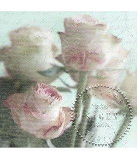 Servilleta vintage pink roses Bouquet