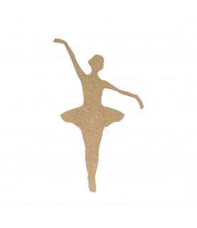 Silueta de madera bailarina 15 cm