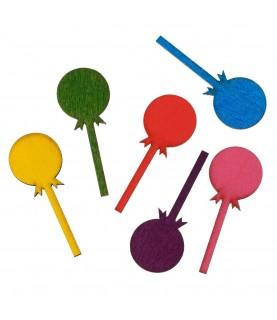 Pack 5 caramelos de madera colores surtido