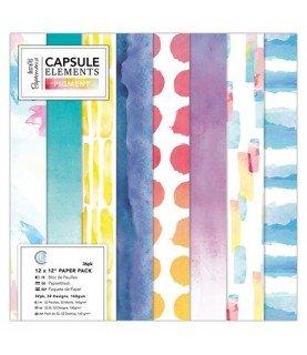 Comprar Pack 36 hojas papel scrap mod Pigment 12x12 de Conideade