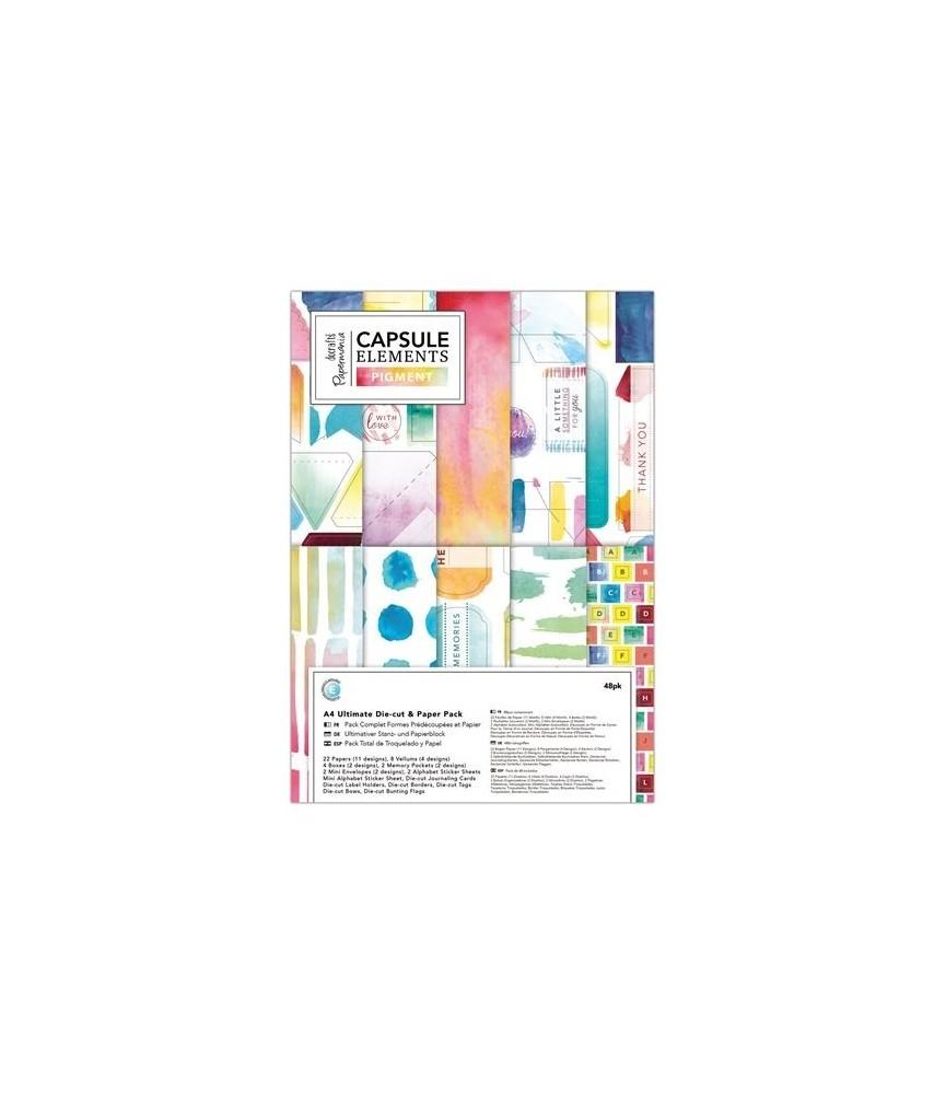 Pack de troquelados y papel A4 mod Pigments