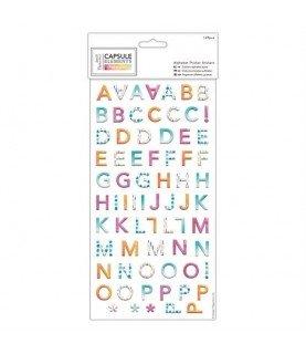 Alfabeto de carton auto adhesivo Pigments