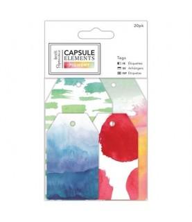 Pack 20 tarjetas decoradas modelos Pigments