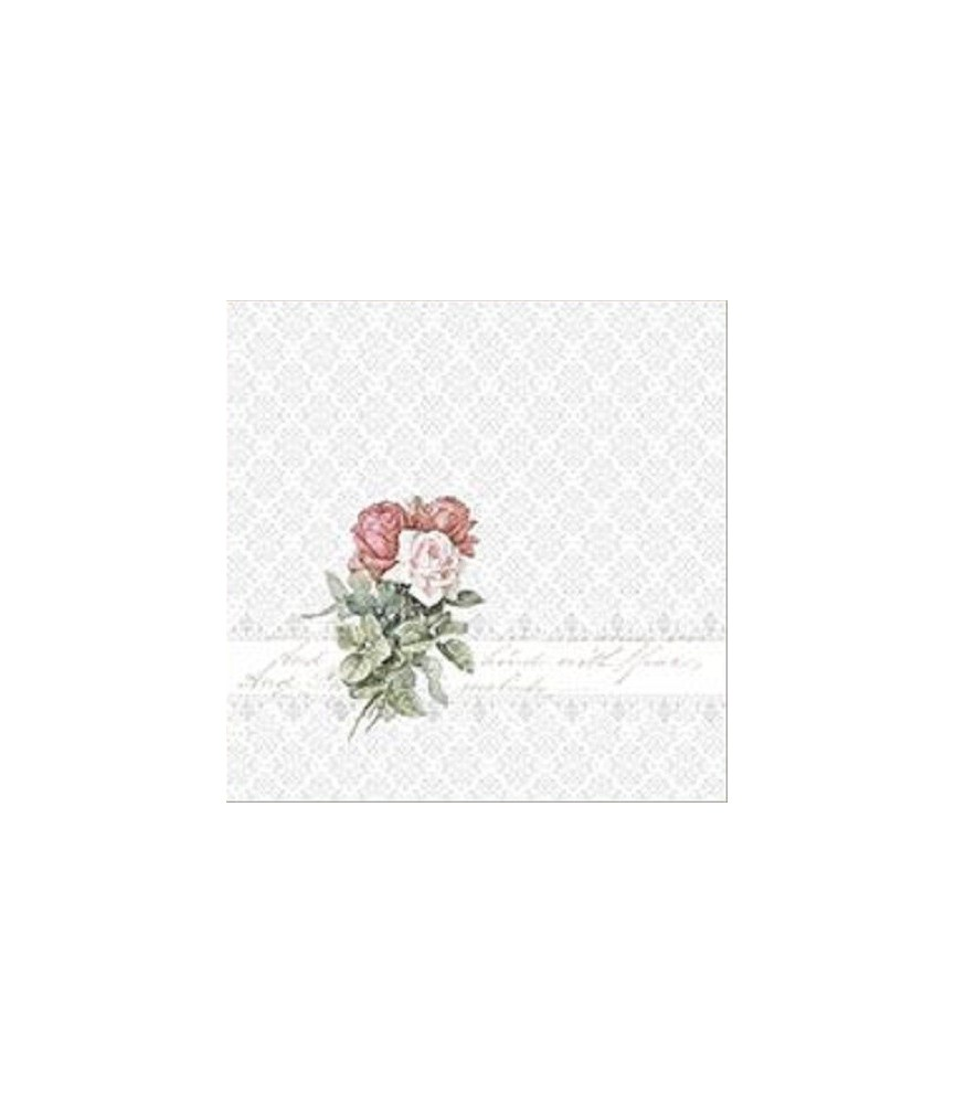 Servilleta vintage Rose Bouquet Ornament