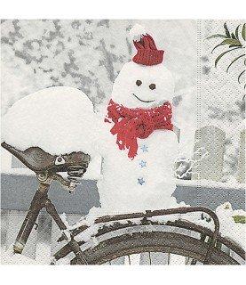 Comprar Servilleta muñeco de nieve 33x33 cm de Conideade