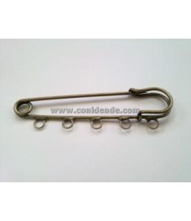 Comprar Imperdible bronce 5 argollas 7cm de Conideade