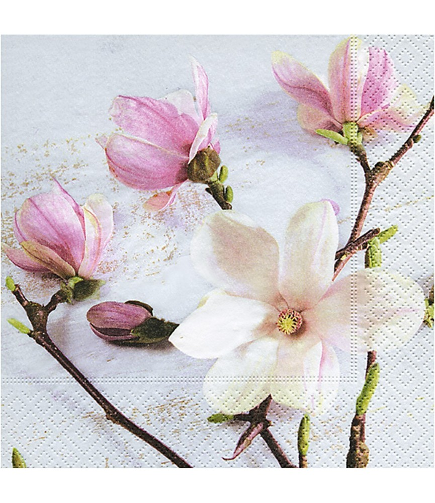 Servilleta flor magnolia 33 x 33 cm