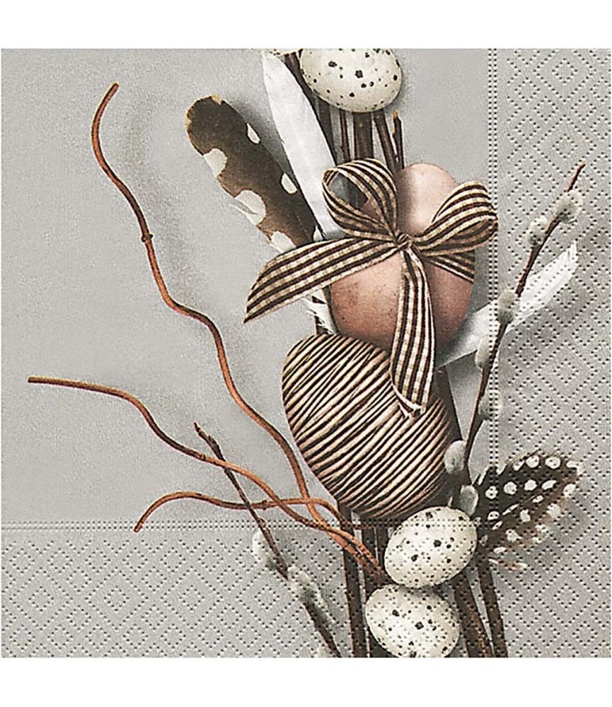 Servilleta decoración con huevos 33x33cm