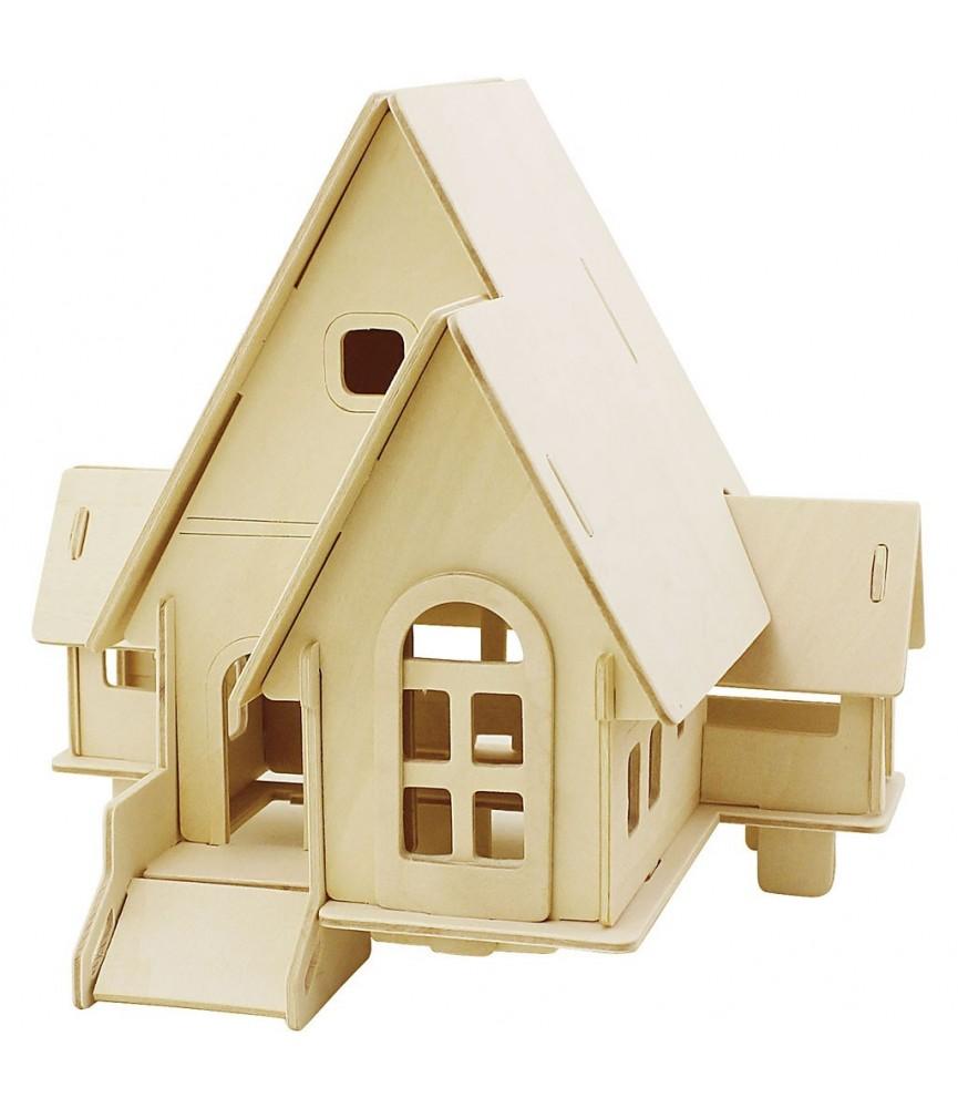 Puzzle de madera 3D casa con rampa