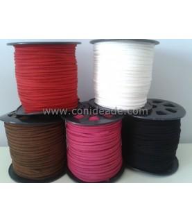 Cordón de ante de 2,5 mm varios colores