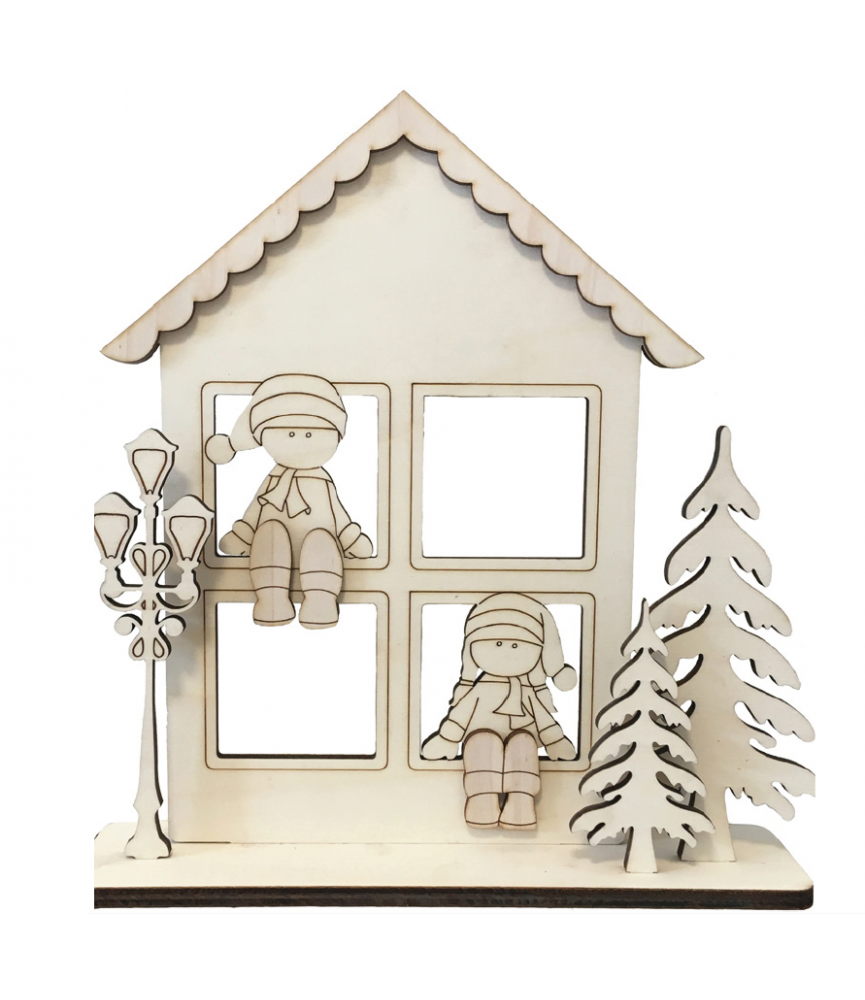 Set Ventana navidad niños