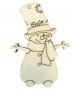 Muñeco de nieve con chistera