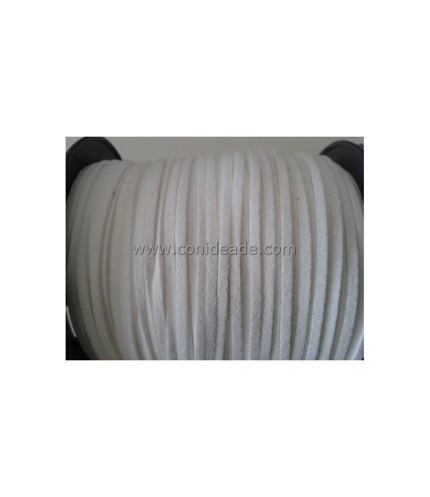 Cordón de ante de 2,5 mm Blanco