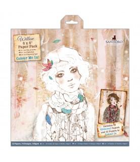 """Comprar Pack 32 hojas scrap 6x6""""colour me in willow de Conideade"""