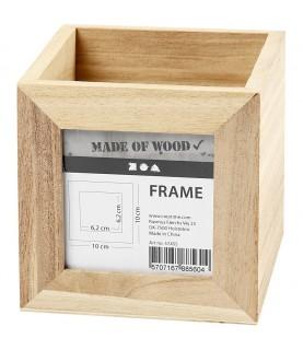 Imagén: Caja de madera porta lapices con ventana