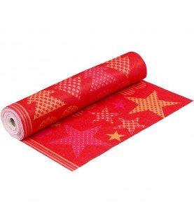 Hoja de fieltro mod navidad rojo de 45 cm x 25 cm