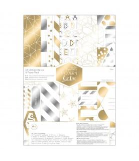 Imagén: Pack 48 papeles y troquelados A4 Mod Modern Lustre