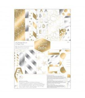 Comprar Pack 48 papeles y troquelados A4 Mod Modern Lustre de Conideade