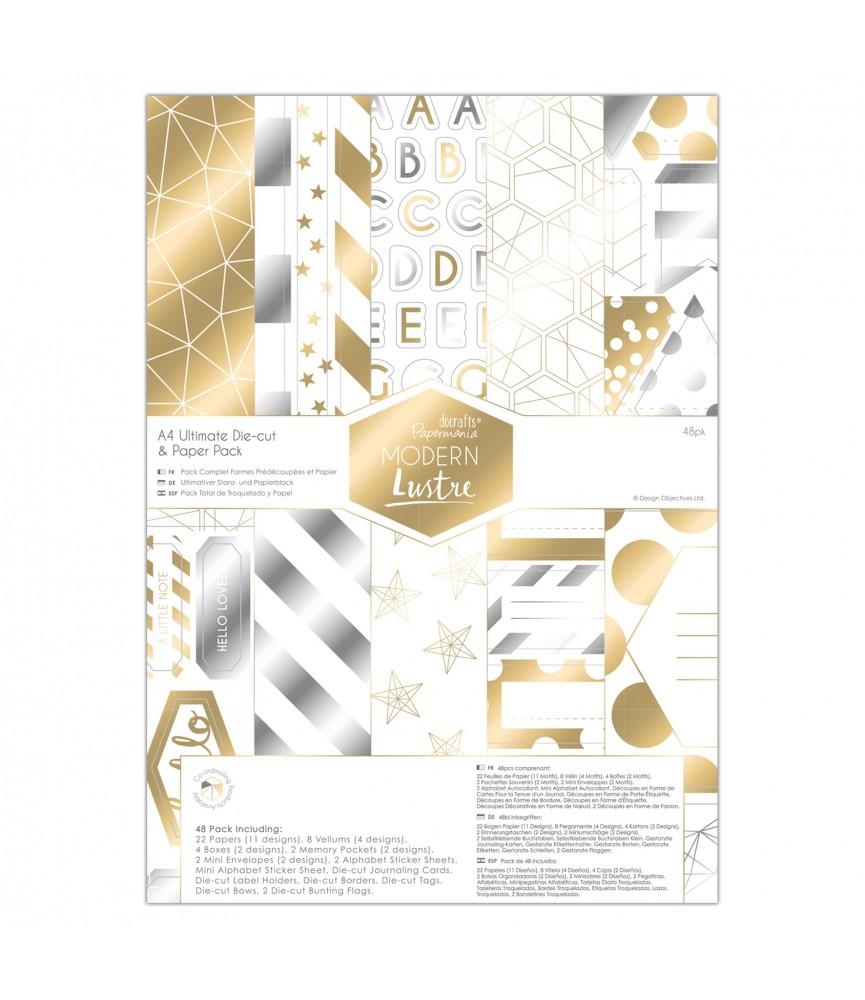 Pack 48 papeles y troquelados A4 Mod Modern Lustre