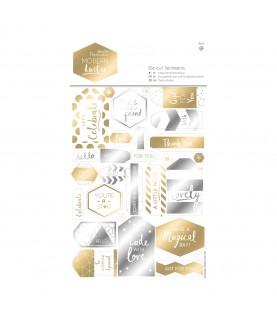 Comprar Pack 2 hojas con etiquetas troqueladas Modern Lustre de Conideade