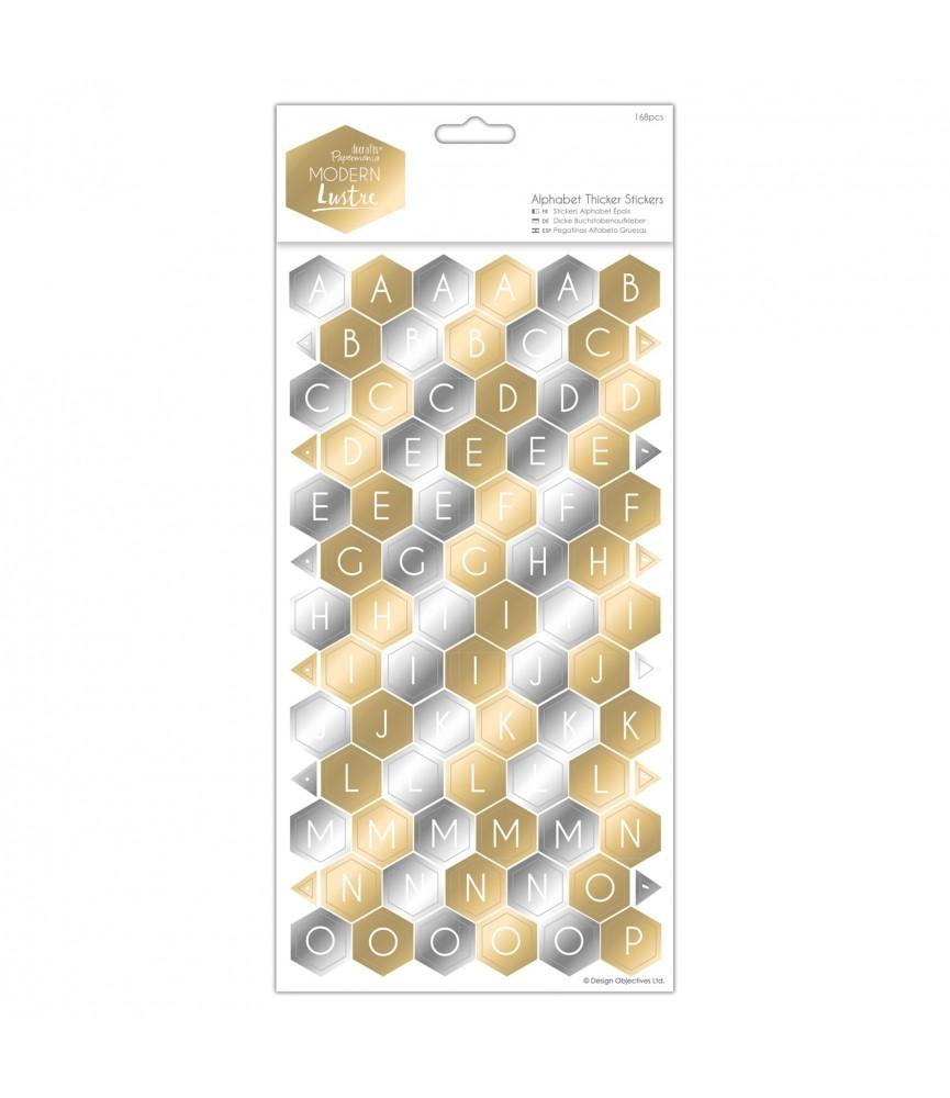 Alfabeto de cartón auto adhesivo modern Lustre