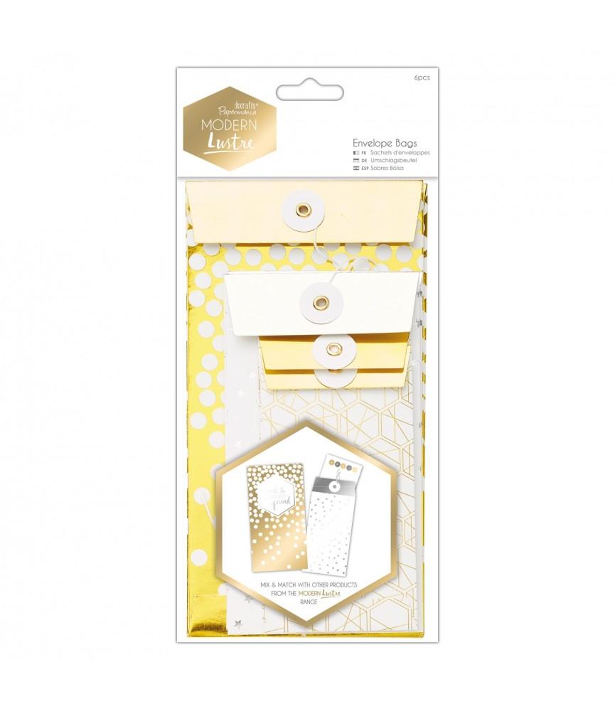 Pack 6 sobres tipo bolsa Modern Lustre