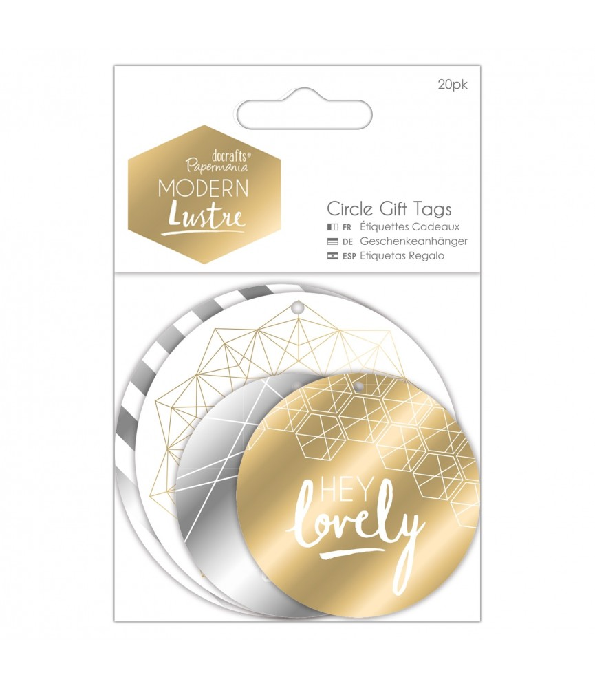 Pack 20 etiquetas regalo Modern Lustre