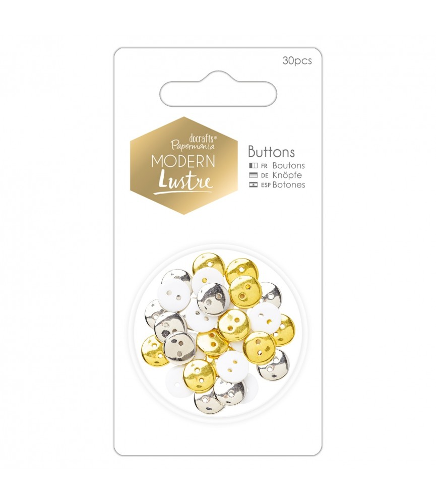 Pack 30 botones mod Modern Lustre