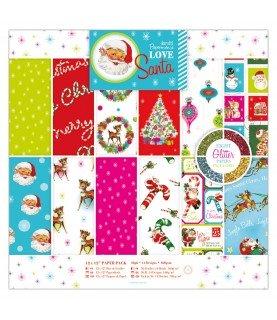 Comprar Pack 36 hojas scrap mod Love Santa 12x12