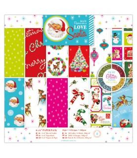 Pack 36 hojas scrap mod Love Santa 6x6