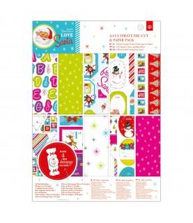 Comprar Pack 48 papeles y troquelados A4 Mod Love Santa