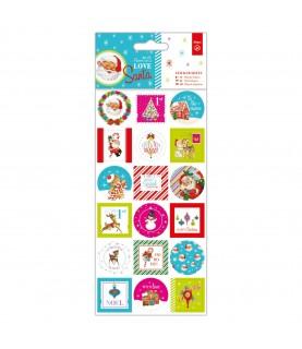 Comprar Pack 36 pegatinas de navidad mod. Love Santa de Conideade