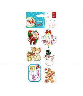 Comprar Pack 6 pegatinas 3D modelo Love Santa de Conideade
