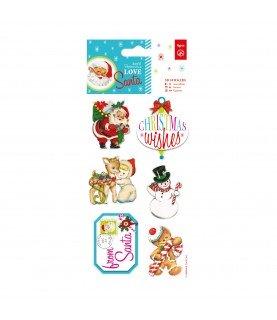 Comprar Pack 6 pegatinas 3D modelo Love Santa