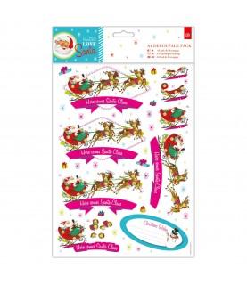 Comprar Pack A4 de papeles y troquelados Love Santa trineo de Conideade