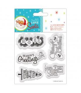 Comprar 5 Sellos transparentes modelo Love Santa