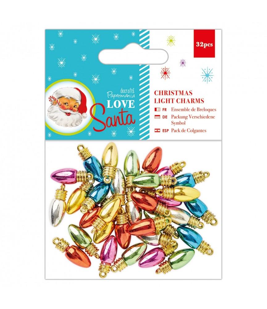 Pack 32 golgantes luces navidad mod Love Santa