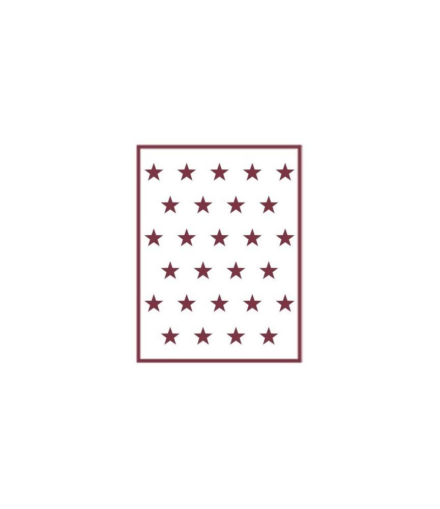 Plantilla stencil A5 Estrellas